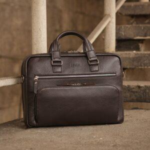 Солидный коричневый мужской портфель деловой BRL-44549 226695