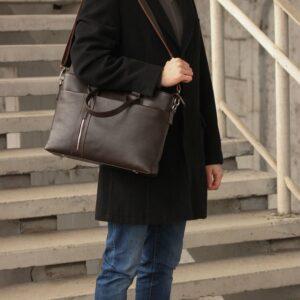 Стильная коричневая мужская классическая сумка BRL-44559 226826