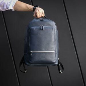 Солидный синий мужской деловой рюкзак BRL-45821 226897