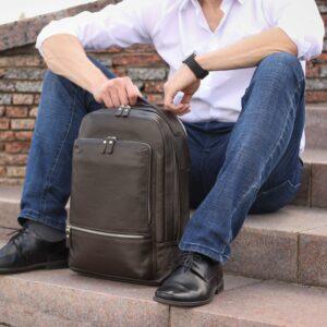 Модный коричневый мужской деловой рюкзак BRL-45820 226875