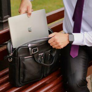 Удобный черный мужской портфель деловой BRL-34109 226636