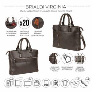 Стильная коричневая мужская классическая сумка BRL-44559 226786