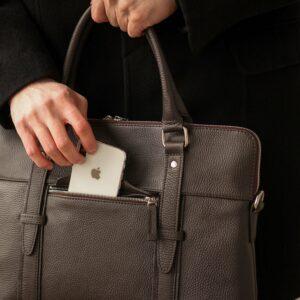 Уникальная коричневая мужская сумка для документов BRL-44551 226737