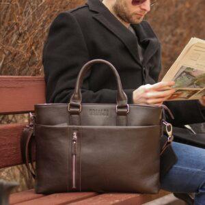 Стильная коричневая мужская классическая сумка BRL-44559 226820