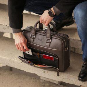 Солидный коричневый мужской портфель деловой BRL-44549 226709