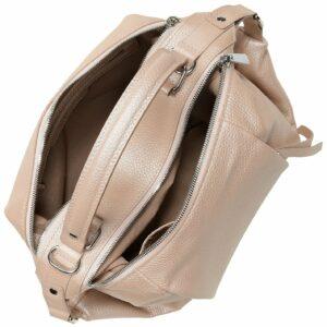 Кожаная бежевая женская сумка FBR-2095