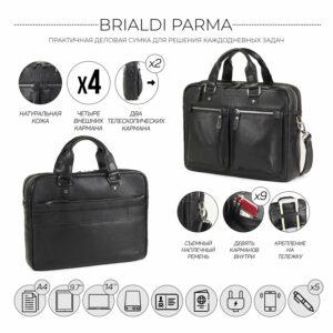Удобный черный мужской портфель деловой BRL-34109 226625