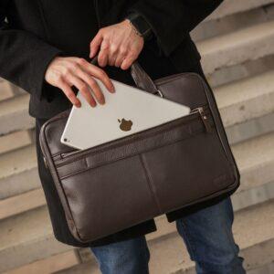 Солидный коричневый мужской портфель деловой BRL-44549 226714