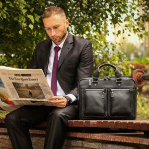 Удобный черный мужской портфель деловой BRL-34109 226632