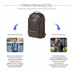 Модный коричневый мужской деловой рюкзак BRL-45820 226890