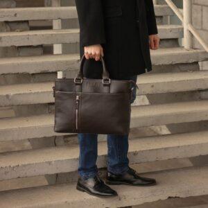 Стильная коричневая мужская классическая сумка BRL-44559 226828