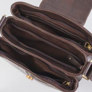 Солидная коричневая женская сумка ATS-2550 225762