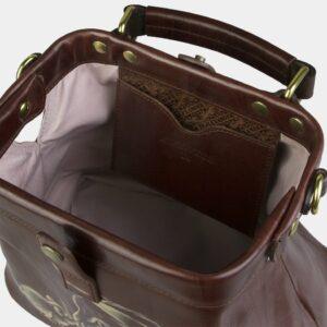 Вместительная светло-коричневая сумка с росписью ATS-2105 226417