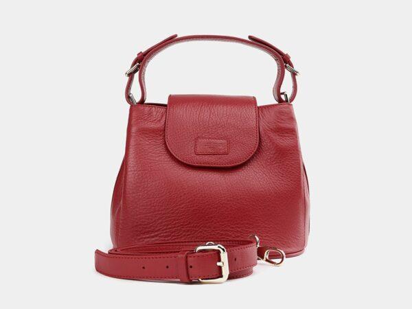 Вместительная красная женская сумка ATS-3743