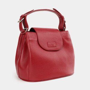 Вместительная красная женская сумка ATS-3743 226385