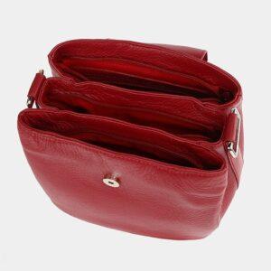 Вместительная красная женская сумка ATS-3743 226387