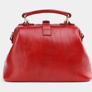 Вместительная красная сумка с росписью ATS-3954