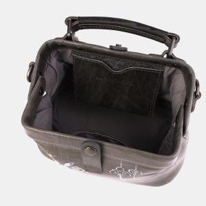 Вместительная серая сумка с росписью ATS-3968 225322