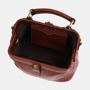 Удобная светло-коричневая сумка с росписью ATS-3969 225317