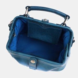 Уникальная зеленовато-голубая сумка с росписью ATS-3974