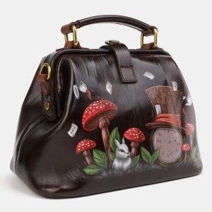 Неповторимая коричневая сумка с росписью ATS-3976 225606