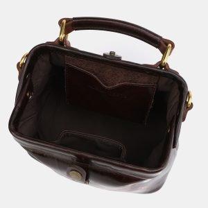 Неповторимая коричневая сумка с росписью ATS-3976 225608