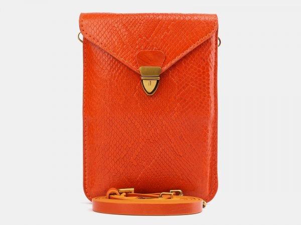 Солидный оранжевый женский клатч ATS-3978