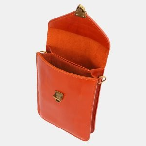 Деловой оранжевый женский клатч ATS-3979 225592