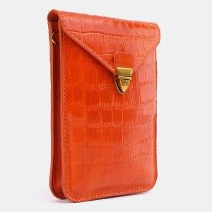 Вместительный оранжевый женский клатч ATS-3981 225581