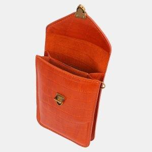 Вместительный оранжевый женский клатч ATS-3981 225583