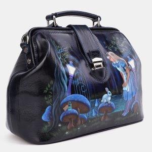 Неповторимая синяя сумка с росписью ATS-3997 225643