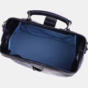 Неповторимая синяя сумка с росписью ATS-3997 225645