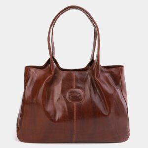Функциональная светло-коричневая женская сумка ATS-2182