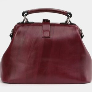 Кожаная бордовая сумка с росписью ATS-4005 227009