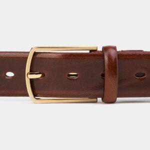 Кожаный коричневый мужской классический ремень ATS-4004 227014