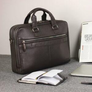 Солидный коричневый мужской портфель деловой BRL-44549 226699