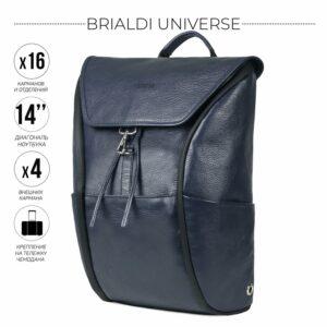Стильный синий мужской деловой рюкзак BRL-45824