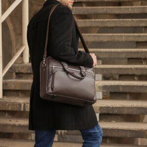 Солидный коричневый мужской портфель деловой BRL-44549 226707