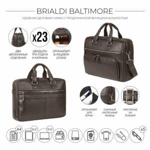 Солидный коричневый мужской портфель деловой BRL-44549 226693
