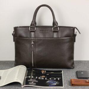 Стильная коричневая мужская классическая сумка BRL-44559 226796
