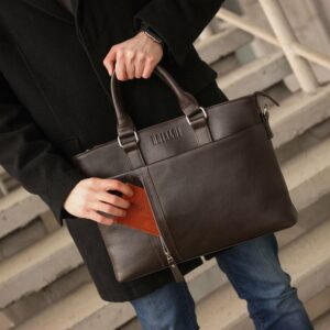 Стильная коричневая мужская классическая сумка BRL-44559 226812