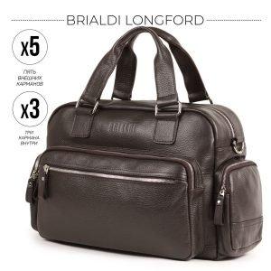 Кожаный коричневый мужской портфель рюкзак BRL-34147