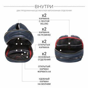 Солидный синий мужской деловой рюкзак BRL-45821 226903