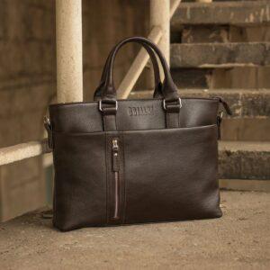 Стильная коричневая мужская классическая сумка BRL-44559 226788