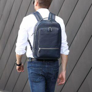 Солидный синий мужской деловой рюкзак BRL-45821 226910