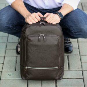 Модный коричневый мужской деловой рюкзак BRL-45820 226904