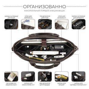 Стильная коричневая мужская классическая сумка BRL-44559 226790
