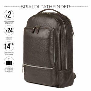 Модный коричневый мужской деловой рюкзак BRL-45820