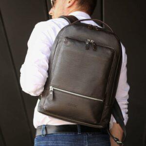 Модный коричневый мужской деловой рюкзак BRL-45820 226879