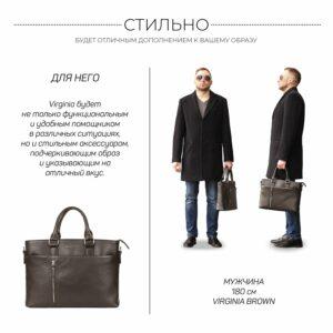 Стильная коричневая мужская классическая сумка BRL-44559 226818